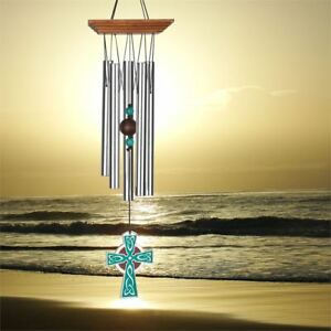 """WOODSTOCK CHIMES -  CELTIC CHIME CROSS - 17"""" WCCC"""