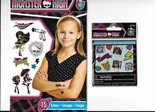 MONSTER HIGH 75 TEMPORARY TATTOOS 104 STICKERS DECALS LOT NEW FREE SHIPPING