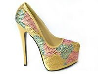 LADIES WOMENS HIGH HEEL STILLETO CONCEALED PLATFORM COURT SHOES SANDALS SIZE 3-8