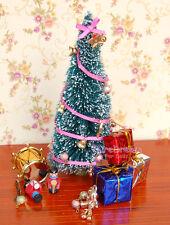Dollhouse Christmas Tree Set Decoration Gift Boxes Bells Drum Stars Dolls OP042T