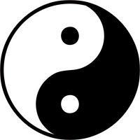 Autocollant sticker voiture moto casque yin yang chinois zen