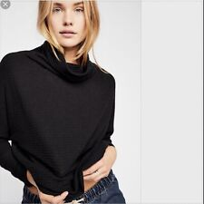 Free People We The Free Kitty Thermal Top Tee Black XLarge XL $78 OB921027 NWT