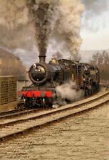 5x7ft Vinyl Photo Backdrops Running Steam Train Scene Photography Backgrounds