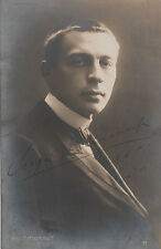 Sergei RACHMANINOFF (Piano): Signed Early Photo in London