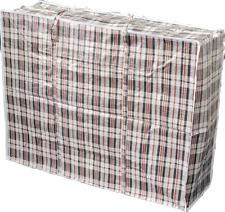 4x Jumbo Tasche Big Bag Aufbewahrung Beutel Sack Kariert Inhalt bis 175 Liter SW