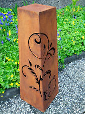 métal COLONNE INOX H.78 de plantation Décoration jardin rouille patinée FLEURS