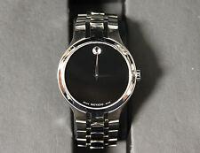 Movado Swiss Made Stainless Steel Museum 01.1.14.1085 Men's Wristwatch Watch!