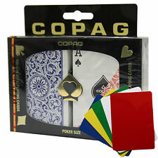 COPAG 1546 Plastic Playing Cards Poker Size Regular Index Red Blue Free Gift