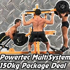 POWERTEC Multi System + 150kgs Weights WB-MS16 PACKAGE Home Gym