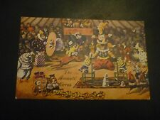 LOUIS WAIN Postcard, The Animals' Circus, Salmon 4357