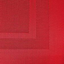new dii everyday woven vinyl placemats set of 6 tango red elegant table mats