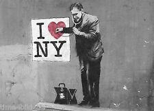 TIME4BILD BANKSY I love New York NY DOKTOR LOVE Loft BILDER LEINWAND ART GICLEE