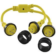 Conntek 17220 NEMA L5-30 30 Amp Marine Shore Power Y-Adapter Splitter