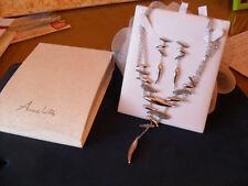 Parure collana con orecchini argento multifili e Swarovsky