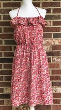 Liberty of London for Target *MEDIUM* Red & Pink Multi-Color Floral Halter Dress