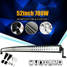 """CREE CURVED 6D+ 52""""INCH 700W LED LIGHT BAR SPOT FLOOD COMBO WORK OFFROAD VS 7D+"""