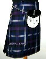 "KILT HERITAGE OF SCOTLAND TARTAN 8 YARD GENTS SIZES 30"" - 48"" HIGHLANDWEAR KILTS"