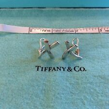 Medium Tiffany & Co. Paloma Picasso Sterling Silver X Kiss Omega Post Earrings