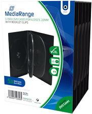 10 Mediarange DVD Hüllen 6er Box 22 mm für je 6 BD / CD / DVD schwarz