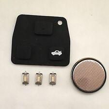 3 Botón Remoto Clave Fob Kit De Reparación Cojín de goma para Toyota Corolla Rav4 Avensis