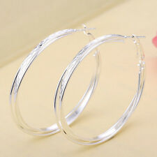 Women Fashion 925 Sterling Silver Stud Hoop Dangle Earring Wedding Jewelry New