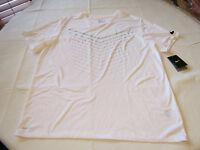 Nike Mens Nike Tee Athletic cut XL 739444 white 100 training shirt Dri Fit