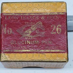 Leon Isaacs & CO #26 Glucinum Dip Pen Nib With Box