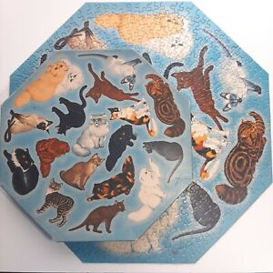 Vintage Sprinkbok Puzzle Show Cat Panorama Octagon Shape 1966 Charles L. Ripper