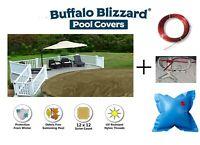 Buffalo Blizzard SUPREME PLUS Tan Swimming Pool Winter Cover w/ Air Pillow