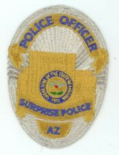SURPRISE POLICE ARIZONA AZ COLORFUL PATCH 3 1/2 INCHES TALL SHERIFF