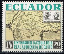 Ecuador South America Countries map 1961 stamp MNH