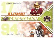 2009 UPPER DECK ALUMNI ASSOCIATION AUBURN SERIAL #/350 JASON CAMPBELL SEN MARKS