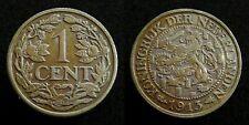 Netherlands - 1 Cent 1913 Prachtig+