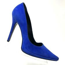 96539f49d9 Casadei Blue Suede Platform Pump Pointed Toe Stiletto Heel Womens Shoe SIZE  8