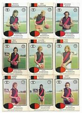 1975 Scanlens ESSENDON Team Set (11 Cards)