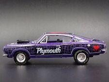 1968 PLYMOUTH BARRACUDA HEMI SUPER STOCK RARE 1:64 DIORAMA DIECAST MODEL CAR