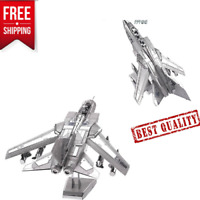 3D Metal kits DIY Puzzle Assembly Model Fighter JET toys For ADULT&KIDS