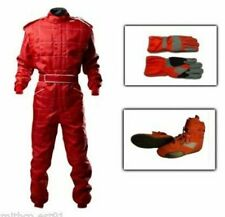 Outdoor Karting Package RED - Kart Suit, Gloves, Boots ADULT sizes