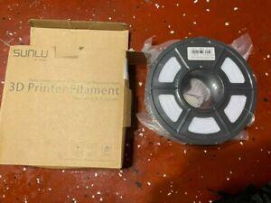 SUNLU 3D Printer Filament PLA PETG TPU SILK SPLA 1.75mm 1kg White U