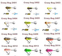 Spinmad CRAZY BUG 4g.  30mm. Tail spinner  1st class post