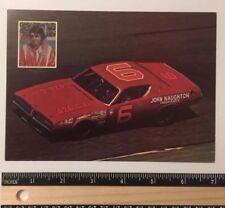 Rare Vintage 1972 Richard Dick Brooks Cotton Owens Dodge  NO 6 NASCAR Postcard