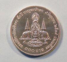 King Bhumibol Adulyadej Rama 9 Thailand 300 Baht 1996 Silver Unc World Coin d
