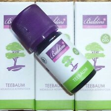 2 ST Baldini Aromatherapie TEEBAUM Bio naturreines ätherisches Öl vegan 2x5ml