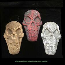 Dimensional SKELETON SKULL PLAQUE WALL SIGN Halloween Prop Crafts Decoration-SET
