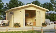 Top-Angebot! Gartenhaus Blockhaus 4x4 m 400 x 400 cm, 34 mm, Holzhaus Schuppen
