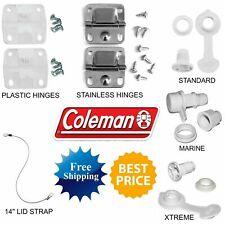 Coleman Cooler Hinges Drain Plug Lid Strap Hinge Cap Handle Thermoelectric Fan