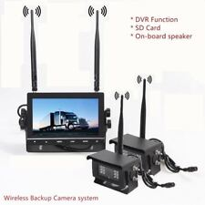 "Wireless Backup Camera System 7"" Monitor DVR Agriculture For Van Trailer RV 12V"