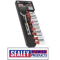 "Sealey Socket Set 12pc 1/4""Sq Drive 6pt WallDrive® Metric S0503"