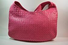 VINTAGE BOTTEGA VENETA Pink Intrecciato Woven Leather Shoulder/Messenger Handbag