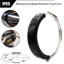 Universal Motorcycle Oval Exhaust Muffler Protector Can Cover Guard 100mm-140mm